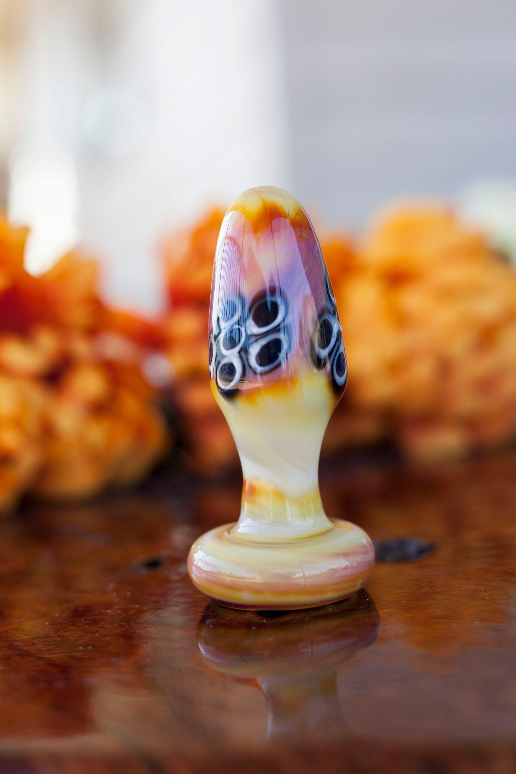 Glass Butt plug- Tantra Tail Solid color serendipity